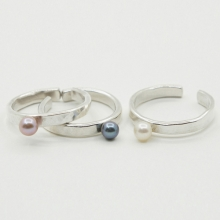 Open Pearl Ring(Thick)