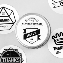 Circle Sticker Tin